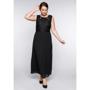 Große Größen: Abendkleid mit Spitzenoberteil, schwarz, Gr.44-58