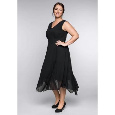Große Größen: Abendkleid, schwarz, Gr.44-58