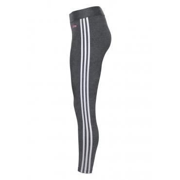 Große Größen: adidas Leggings »W E 3 STRIPES TIGHT«, dunkelgrau, Gr.L-XXL
