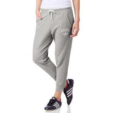 Große Größen: adidas Originals SLIM 3/4 TRACKPANTS 7/8-Sweathose, Grau-Meliert, Gr.36-40