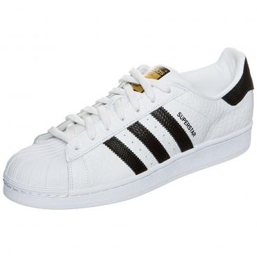 Große Größen: adidas Originals Superstar Animal Sneaker, weiß / schwarz, Gr.8.5 UK - 42.2/3 EU-12 UK - 47.1/3 EU