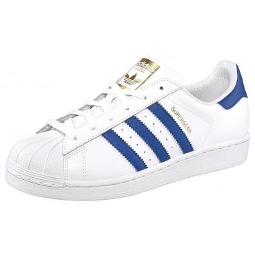 Große Größen: adidas Originals Superstar Sneaker, Weiß-Blau, Gr.39-47