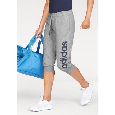 Große Größen: adidas Performance 3/4-Hose »ESSENTIALS 3 STRIPES 3/4 PANT«, hellgrau, Gr.L-XXL