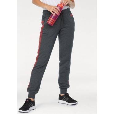 Große Größen: adidas Performance Jogginghose »ESSENTIALS 3 STRIPES PANT CUFFED«, grau-koralle, Gr.L-XXL