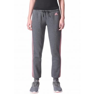 Große Größen: adidas Performance Jogginghose »ESSENTIALS 3 STRIPES PANT CUFFED«, grau-pink, Gr.L-XXL
