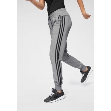 Große Größen: adidas Performance Jogginghose »MH 3 STRIPES PANT«, grau, Gr.L-XXL