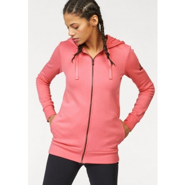 Große Größen: adidas Performance Kapuzensweatjacke »ESSENTIALS SOLID ELONGATED HOODIE«, rosa, Gr.L-XXL