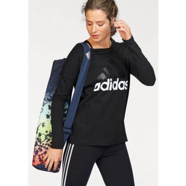 Große Größen: adidas Performance Langarmshirt »ESSENTIALS LINEAR LONGSLEEVE«, schwarz, Gr.L-XXL