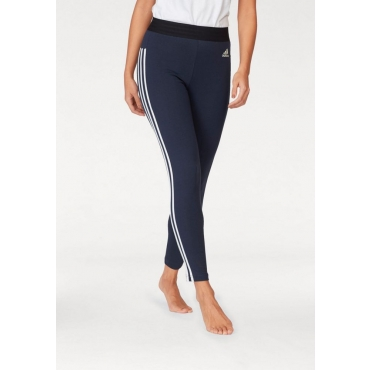 Große Größen: adidas Performance Leggings »ESSENTIALS 3 STRIPES TIGHT«, marine-weiß, Gr.L-XXL