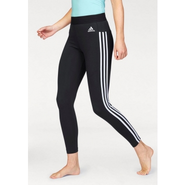 Große Größen: adidas Performance Leggings »ESSENTIALS 3 STRIPES TIGHT«, schwarz-weiß, Gr.L-XXL