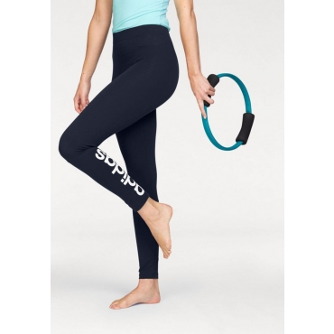 Große Größen: adidas Performance Leggings »ESSENTIALS LINEAR TIGHT«, marine-weiß, Gr.L-XXL