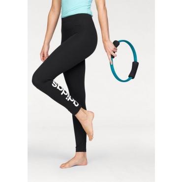 Große Größen: adidas Performance Leggings »ESSENTIALS LINEAR TIGHT«, schwarz-weiß, Gr.L-XXL