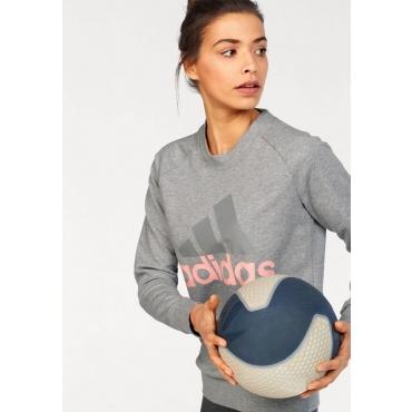 Große Größen: adidas Performance Sweatshirt »ESSENTIAL LIN SWEAT«, grau-rosé, Gr.L-XXL