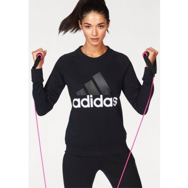 Große Größen: adidas Performance Sweatshirt »ESSENTIAL LIN SWEAT«, schwarz-weiß, Gr.L-XXL