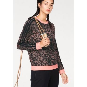 Große Größen: adidas Performance Sweatshirt »WOMAN ESSENTIAL AOP SWEATSHIRT«, rosa, Gr.L-XXL