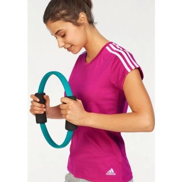Große Größen: adidas Performance T-Shirt »ESSENTIALS 3S SLIM TEE«, beere-weiß, Gr.L-XXL