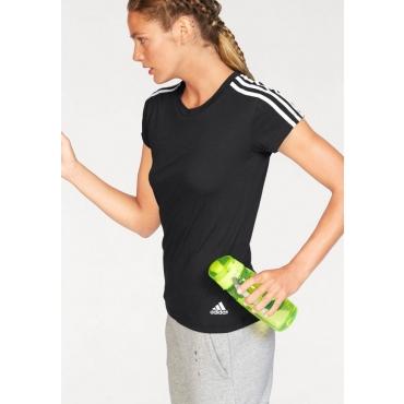 adidas Performance T-Shirt »ESSENTIALS 3S SLIM TEE«, schwarz-weiß, Gr.L-XXL
