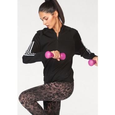 Große Größen: adidas Performance Trainingsjacke »W Id Kn Bom Jk black«, schwarz, Gr.L-XXL