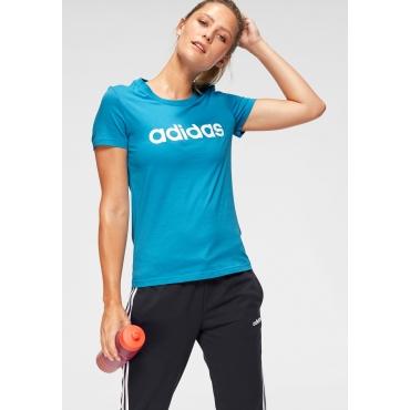 adidas T-Shirt »E LINEAR SLIM TEE«, blau, Gr.L-XXL