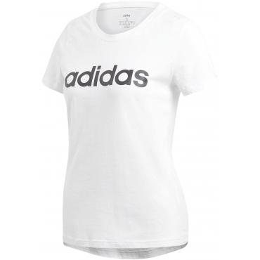 Große Größen: adidas T-Shirt »E LINEAR SLIM TEE«, weiß, Gr.L-XXL