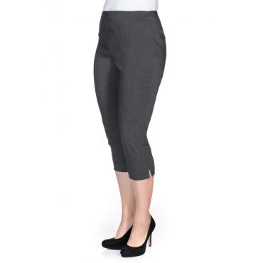 Große Größen: BASIC Bengalin-Stretch-Hose mit Schlupfbund, grau meliert, Gr.40-58