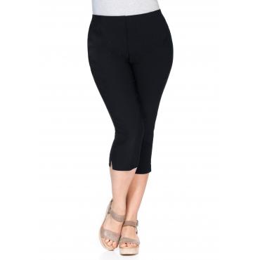 Große Größen: BASIC Bengalin-Stretch-Hose mit Schlupfbund, schwarz, Gr.40-58