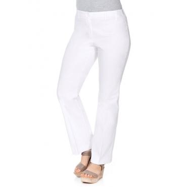 Große Größen: BASIC Bootcut Bengalin-Stretch-Hose, weiß, Gr.20-116