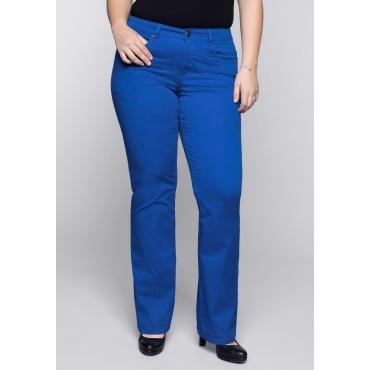 Große Größen: BASIC Bootcut-Stretch-Hose aus Baumwolle, royalblau, Gr.44-58