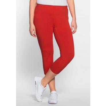Große Größen: BASIC Capri Leggings, rot, Gr.40-58