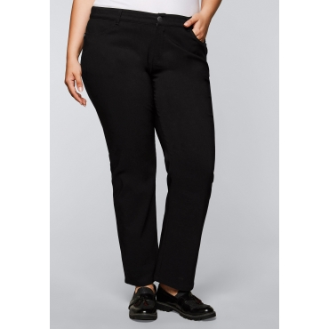 Große Größen: BASIC Gerade Bengalin-Stretch-Hose, schwarz, Gr.44-58