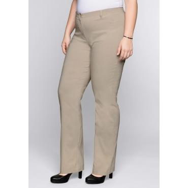 Große Größen: BASIC Gerade Bengalin-Stretch-Hose, softtaupe, Gr.44-58
