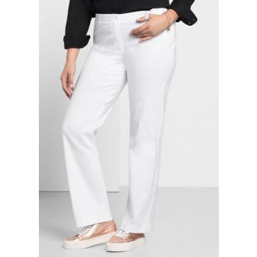 Große Größen: BASIC Gerade Bengalin-Stretch-Hose, weiß, Gr.22-58