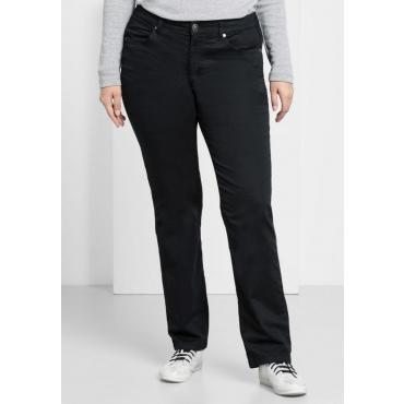 Große Größen: BASIC Gerade Stretch-Hose, schwarz, Gr.22-104