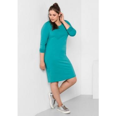 Große Größen: BASIC Kleid, karibiktürkis, Gr.40-58