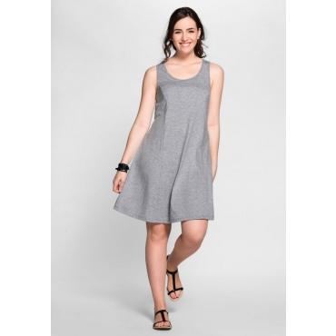 Große Größen: BASIC Kleid mit breiten Trägern, grau meliert, Gr.40-58