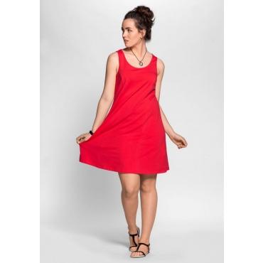 Große Größen: BASIC Kleid mit breiten Trägern, hibiskus, Gr.40-58