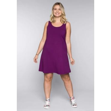 Große Größen: BASIC Kleid mit breiten Trägern, lila, Gr.44-58