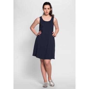 Große Größen: BASIC Kleid mit breiten Trägern, marine, Gr.40-58