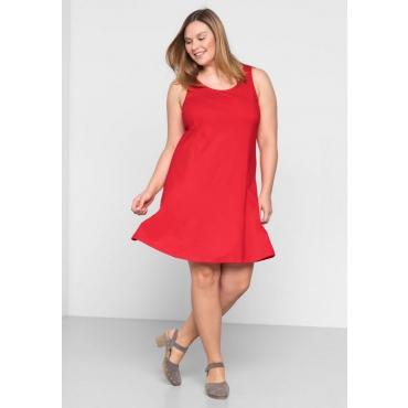 Große Größen: BASIC Kleid mit breiten Trägern, mohnrot, Gr.44-58