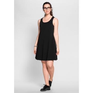 Große Größen: BASIC Kleid mit breiten Trägern, schwarz, Gr.40-58