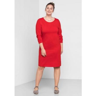 Große Größen: BASIC Kleid, mohnrot, Gr.44-58