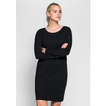 Große Größen: BASIC Kleid, schwarz, Gr.40-58