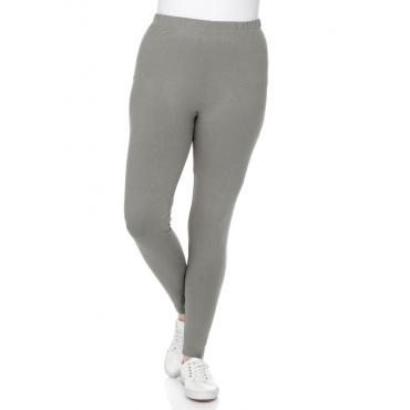 Große Größen: BASIC Leggings mit Gummizugbund, grau, Gr.40-58