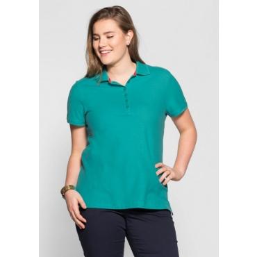 Große Größen: BASIC Poloshirt, karibiktürkis, Gr.40/42-56/58