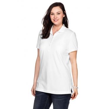 Große Größen: BASIC Poloshirt, weiß, Gr.40/42-56/58