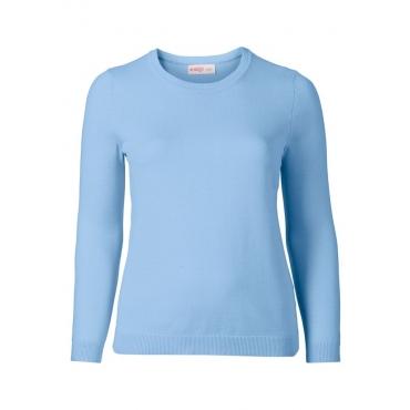 Große Größen: BASIC Pullover, hellblau, Gr.40/42-56/58