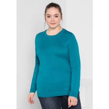 Große Größen: BASIC Pullover, italienblau, Gr.40/42-56/58
