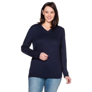 Große Größen: BASIC Pullover, marine, Gr.40/42-56/58