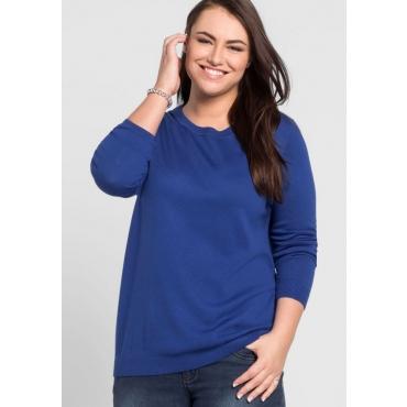 Große Größen: BASIC Pullover, royalblau, Gr.44/46-56/58