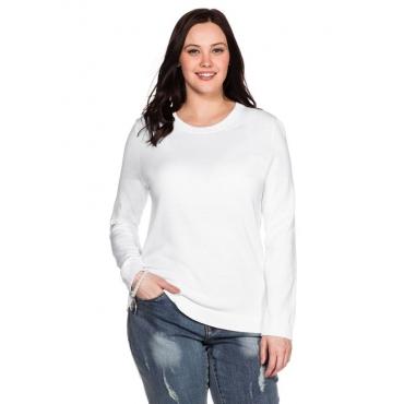 Große Größen: BASIC Pullover, weiß, Gr.40/42-56/58